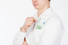 Euro currency in pocket Royalty Free Stock Images