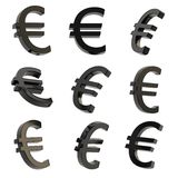 Euro currency sign render Royalty Free Stock Photos
