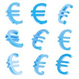 Euro currency sign render Royalty Free Stock Images