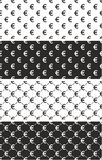 Euro Currency Sign Seamless Pattern Set Stock Photo