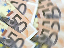 Euro currency spin Royalty Free Stock Photography