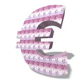 Euro Currency Symbol. Currency sign in group on white background stock illustration