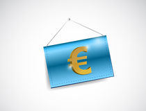 Euro currency symbol hanging banner Stock Photography