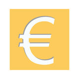 Euro currency symbol icon Royalty Free Stock Photos
