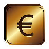 Euro currency symbol icon Royalty Free Stock Images