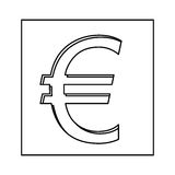 Euro currency symbol icon Royalty Free Stock Image