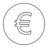 Euro currency symbol icon Royalty Free Stock Photo