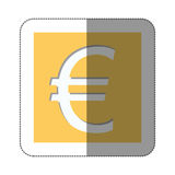 Euro currency symbol icon Stock Photo