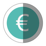 Euro currency symbol icon Royalty Free Stock Photography