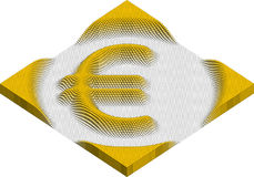 Euro currency symbol made of cubes Stock Photography