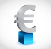 Euro currency symbol over a cube Stock Image