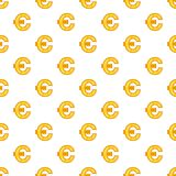Euro currency symbol pattern, cartoon style. Euro currency symbol pattern. Cartoon illustration of euro currency symbol vector pattern for web Stock Images
