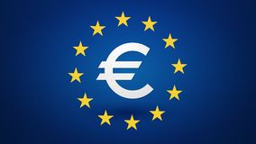 Euro currency symbol stock footage