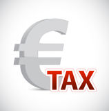 Euro currency tax sign concept illustration Royalty Free Stock Photos