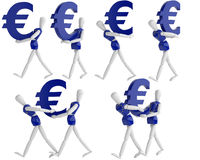Euro currency white man Stock Images