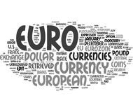 Euro currency word cloud Royalty Free Stock Images