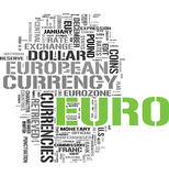 Euro currency word cloud. Euro gorgeous tag clouds for your design Stock Images