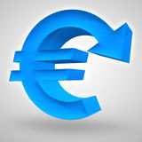 Euro déclin Photographie stock libre de droits