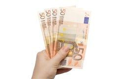 Euro d'argent comptant Photos stock