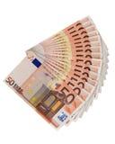 Euro d'argent d'économie Images stock