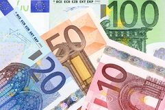 Euro d'argent liquide photos libres de droits