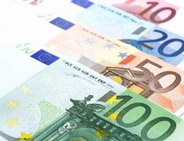 Euro d'argent liquide Photographie stock