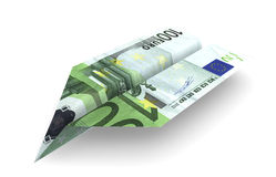 euro d'avion illustration libre de droits