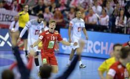 EURO d'EHF 2016 Frances Norvège Photographie stock libre de droits