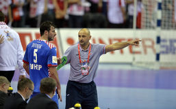 EURO d'EHF Pologne 2016 Croatie Photographie stock