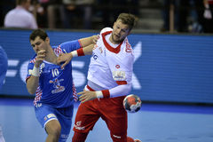 EURO d'EHF Pologne 2016 Croatie Images stock