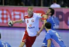 EURO d'EHF Pologne 2016 Croatie Image stock