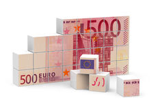 500 Euro. 3d generated picture of a 500 Euro concept Royalty Free Stock Images