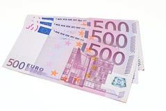 Euro d'isolement sur le blanc Image stock