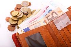 Euro da carteira Imagens de Stock