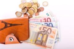 Euro da carteira do curso - França Foto de Stock Royalty Free