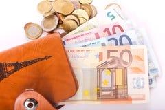 Euro da carteira do curso - França Imagens de Stock