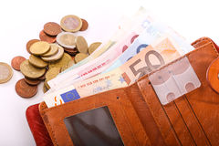 Euro da carteira do curso - França Fotos de Stock Royalty Free