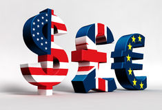 Euro da libra do dólar Imagem de Stock Royalty Free