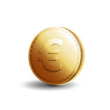 Euro da moeda de ouro Imagens de Stock Royalty Free