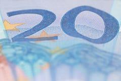 Euro da nota de banco 20 Foto de Stock Royalty Free