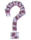 euro da Pergunta-marca Fotografia de Stock