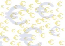 Euro da textura Imagens de Stock Royalty Free