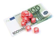100 euro dadi Fotografia Stock