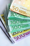 Euro das cédulas Foto de Stock