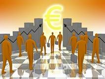 Euro de bedrijfs van de Zonneschijn Stock Afbeelding
