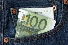 euro de billet de banque cents un Images libres de droits