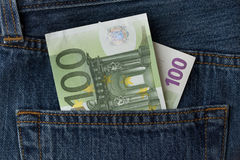 euro de billet de banque cents un Photo stock