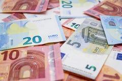 Euro de Billetes de imágenes de archivo libres de regalías