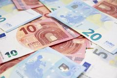 Euro de Billetes de imagem de stock royalty free