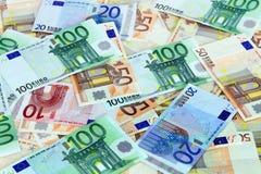 Euro de Billetes de imagenes de archivo